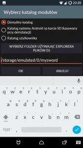 MySword - wybór katalogu