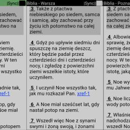 Widok aplikacji mysword premium i deluxe podział ekranów